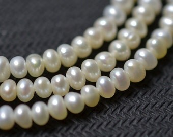 Seed Freshwater Pearl Corn pearl Potato Necklace pearl White Loose beads 3.5mm 150 pcs Full Strand Item No : PL1087