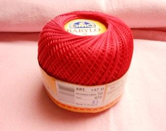 DMC BABYLO crochet thread size 10...a wonderful shade of red