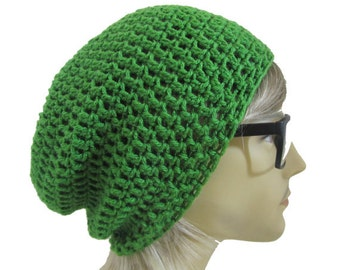 Slouchy Beanie Slouch Hat - Kelly Green