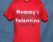 Mommy's little Valentine Shirt, Valentine Shirt Boy, Valentine Shirt Girl.