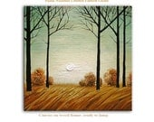 Landscape Art Painting Impressionist modern Giclee Print Interior decor by Paula ready to hang
