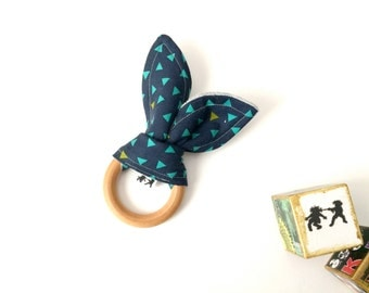 Turquoise Triangles Teething Ring