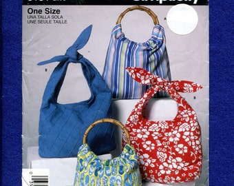 Simplicity 5151 Tote Bags & Purses with Ring or Ties Handles