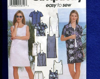 Simplicity 7235 Beach Resort Wardrobe for Woment Size 8 to 14 UNCUT