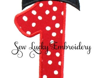 Mouse Ears Numbers (1-9) Appliqued Embroidered Patch, Sew or Iron on