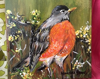 Robin, Original Painting