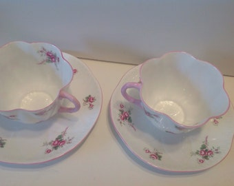2 Shelley Bridal Rose Cup and Saucer Sets, buy 1 or both, Dainty and Beautiful