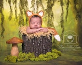 Newborn fox bonnet. Newborn fox hat and tail set. Newborn fox bonnet. Fox. Newborn fox photo prop. Newborn fox outfit.