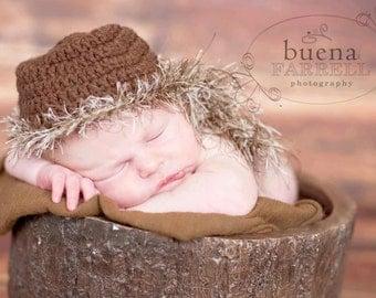 Sale. Clearance. Newborn boy hat.  Daniel Boone hat.  Photo prop. Newborn boy. Daniel Boone inspired hat.
