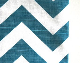 Sea Blue / White Chevron Home Decor Weight Fabric from Premier Prints - ONE YARD