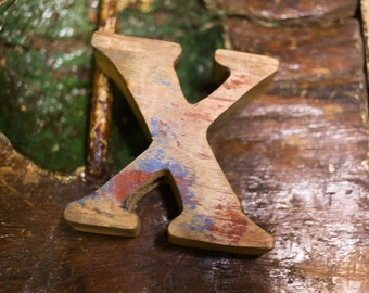 """Beach Decor Wooden LETTER """"X"""" Vintage Style Nautical by SEASTYLE"""
