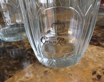 Vintage Crown Royal Rocks Glasses Set of Two