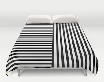 36 colours, Stripes, 2 way Striped Pattern Duvet Cover, Black and white bedroom decor, double duvet, queen duvet cover, king duvet cover