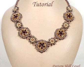 NEBULA beaded necklace beading tutorial beadweaving pattern seed bead beadwork jewelry beadweaving tutorials beading pattern instructions