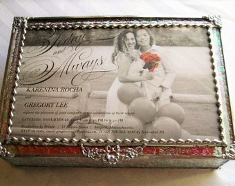 MADE to ORDER|Wedding Keepsake Box|Wedding Gift|Wedding Invitation Box|Stained Glass Wedding Keepsake Box|Handcrafted|Made in USA