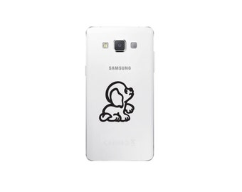 Puppy Cute Cell Phone Decal
