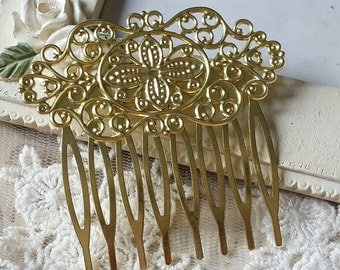 50 x 55 mm of Copper Raw Brass Comb Finding with Setting (t.c)