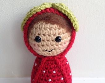 Strawberry Amigurumi Girl Doll
