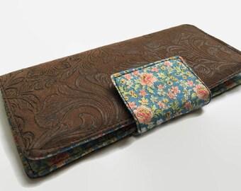 Checkbook Cover, Checkbook case, Faux Leather checkbook holder, Womens Checkbook cover, Checkbook Wallet, Leather Checkbook Wallet