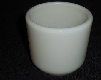 Corning Milk Glass NavyWatch Handwarmer, Mug, No Handle 1940's
