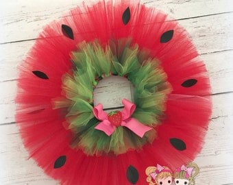 Strawberry Tutu- Red Strawberry- Custom Tutu- Baby, Kids costume tutu