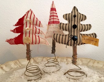 Christmas Tree on a Spring (Set of 3)