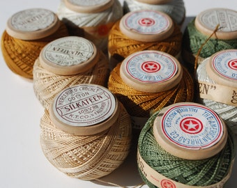 10 Vintage Wood Spool of Cotton Thread The American Thread Co