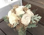 Ready to Ship! Sola Flower Floral Arrangement, Home Decor, Wedding Centerpiece, Baby Shower, Flowers, Dusty Miller