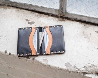 Small Leather Wallet / Leather card wallet / Premium Italian Leather / Men's wallet / gift for him