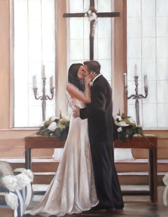 WEDDING PORTRAIT - Custom Portrait - Family Portrait - Oil Painting - ANNIVERSARY Gift