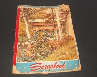 Vintage Scrapbook Filled with Scrap Pictures