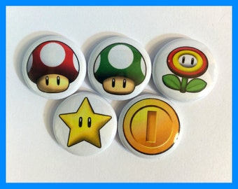 Mario Power Up Button Magnet Set
