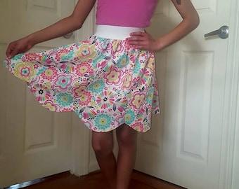 Flower Petal Girl Skirt