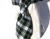 St. Patricks Day Dog Collar and Necktie Set in Plaid Flannel - The Dublin