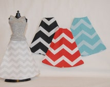 Barbie Clothes Tailor Made by Tunafairy - A Long Chevron Skirt in a Choice of Prints for Barbie or Similar Doll