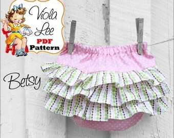 Ruffled Baby Bloomer pdf Sewing Pattern. Infant Sewing Pattern. Diaper Cover. Girl's Sewing Pattern. Nappy Cover. Baby Pants Pattern. Betsy