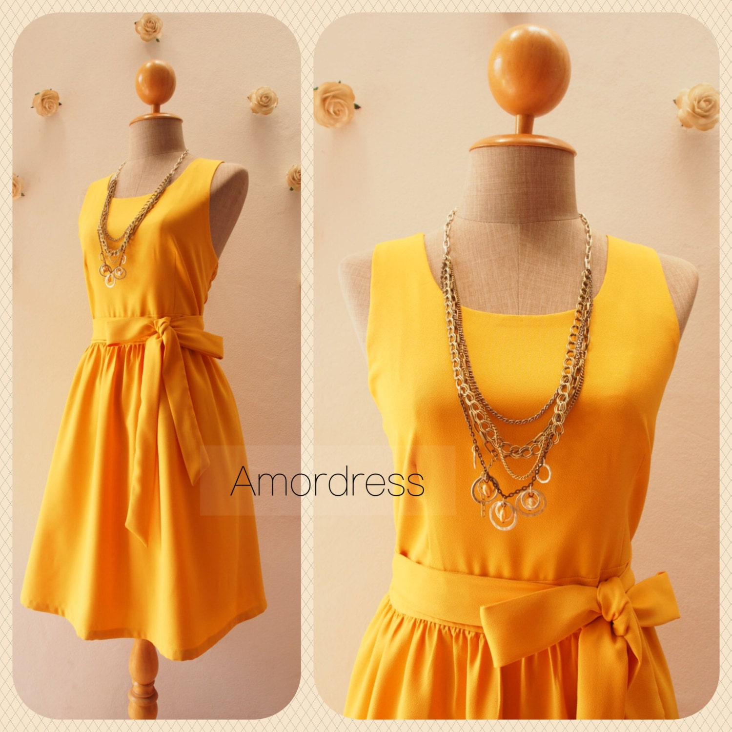 dress in mustard yellow bridesmaid dress yellow party dress