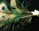 Peacock Feather Pen,Spell Writer,Wedding Sign In, Shower Gift, Centerpiece,Desk Acessory,Cruelity Free