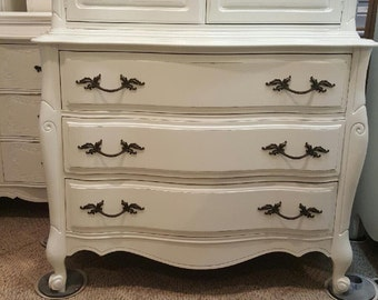 French Distressed Vintage dresser Dressers white dresser