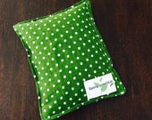 Ouchie Bags, Natural Hot/Cold Therapy Packs Flaxseed green white polka dots
