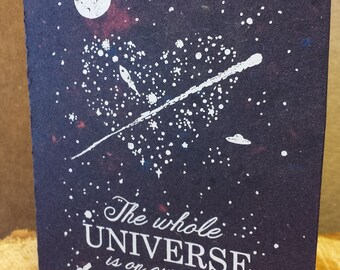 The Whole Universe Love  - Hand Printed Recycled