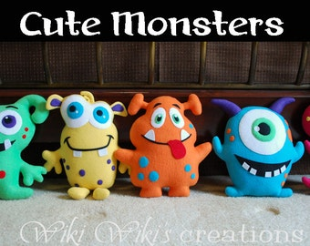 Cute Soft Plush Monsters - choose your favorite