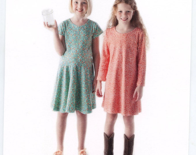 Childrens Corner Pattern / Nora Pattern / Dropped Waist Pattern /  A-Line Dress Pattern / Designed for knits /  Children's Corner #289
