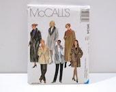 Jacket Coat Vest McCalls 9634 Sewing Pattern 1990s never used Size Large XL 16 18 20 22 Faux Fur Leopard Print Bathrobe Robe Fur Collar