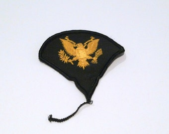 Military Patch Vintage Triangle Shape Eagle Embroidered Patch Applique Sew on Patch