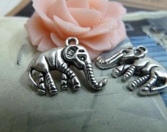 20pcs 15*18mm antique silver elephant animal charms pendant B359