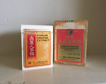 Vintage Korean Ginseng Extract Boxes