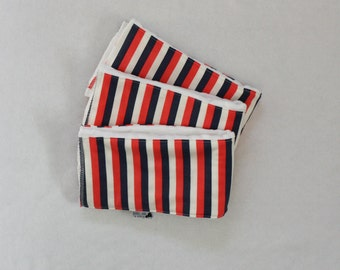 Set of 3 Circus Stripe Burp Cloths
