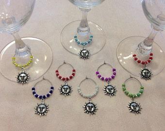 Sun Wine Glass Charms