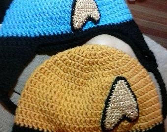 Star Trek Inspired Hat with Ear Flaps